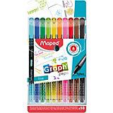 Набор капиллярных ручек Maped Graph Pep's, 10 цветов