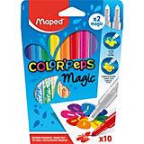 Фломастеры Maped Color'Peps Magic меняющие цвет рисунка, 10 штук