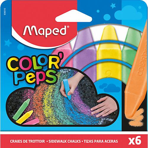Мелки Maped Color'Peps для рисования на асфальте, 6 цветов от Maped