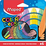 Мелки Maped Color'Peps для рисования на асфальте, 6 цветов
