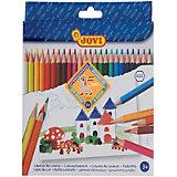 Цветные карандаши Jovi Wood-less, 24 цвета