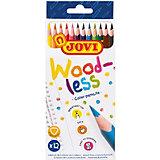 Цветные карандаши Jovi Wood-less, 12 цветов