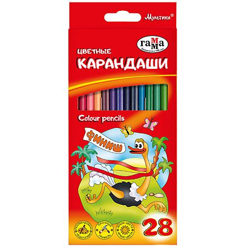 """Цветные карандаши Гамма """"Мультики"""", 28 цветов от ГАММА"""