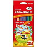 """Цветные карандаши Гамма """"Мультики"""", 28 цветов"""