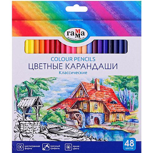 """Цветные карандаши Гамма Классические"""", 48 цветов от ГАММА"""