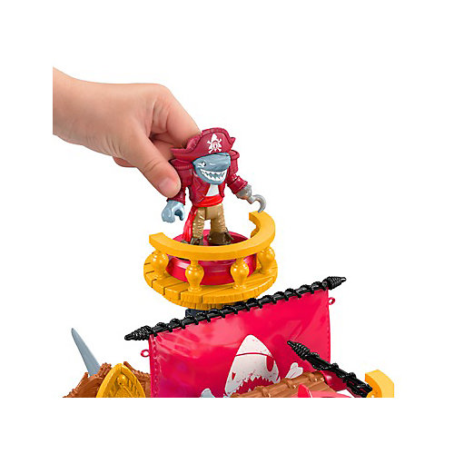 """Игровой набор Imaginext Пиратский корабль """"Акула"""" от Mattel"""