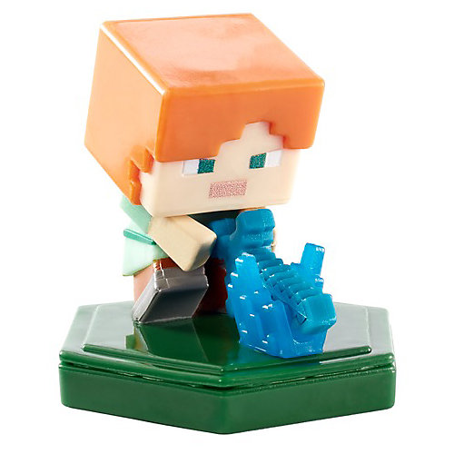Мини-фигурка с NFC-чипом Minecraft Attacking Alex от Mattel