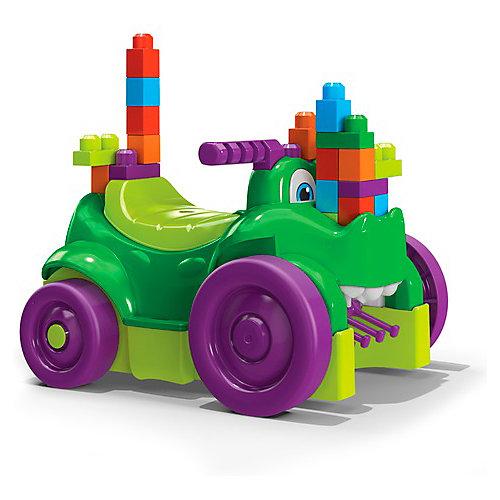 Машинка-каталка Mega Bloks First Builders Крокодил, 26 деталей от Mattel