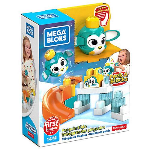 """Конструктор Mega Bloks First Builders """"Горки"""" Пингвин, 14 деталей от Mattel"""