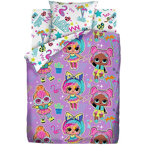Комплект постельного белья 1,5 сп LOL Surprise! Neon Glow, наволочки 70х70 см - розовый от Непоседа