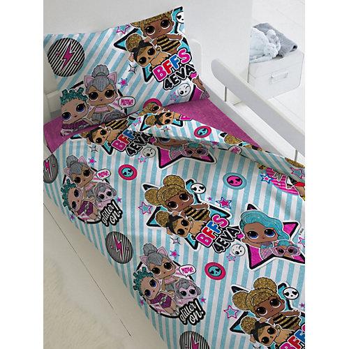 Комплект постельного белья 1,5 сп LOL Surprise! Stars, наволочки 50х70 см - синий