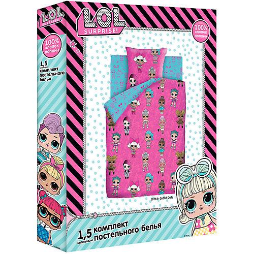 Комплект постельного белья 1,5 сп LOL Surprise! Dolls, наволочки 50х70 см - розовый от Непоседа