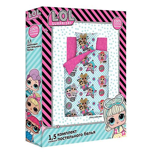 Комплект постельного белья 1,5 сп LOL Surprise! Stars, наволочки 70х70 см - розовый от Непоседа