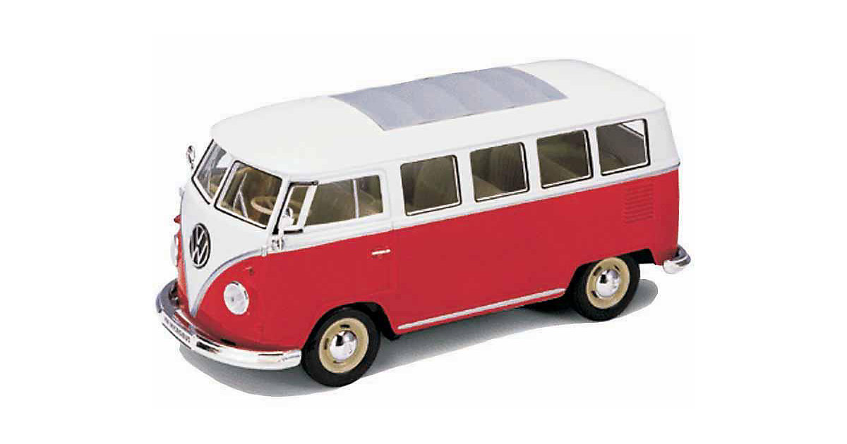 Welly VW Bus '62, rot 1:24