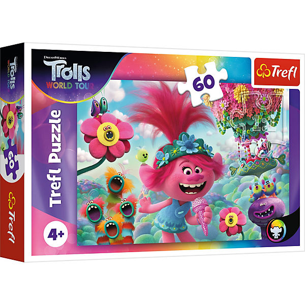 Puzzle In the music world of Trolls, 60 Teile
