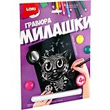 """Гравюра большая Lori """"Котёнок"""", серия  Милашки с эффектом серебра"""