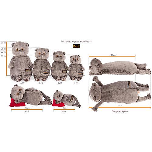 Мягкая игрушка Budi Basa Кот Басик с мухомором, 19 см от Budi Basa