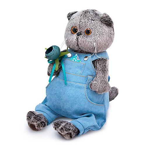 Мягкая игрушка Budi Basa Кот Басик в голубом комбинезоне с розочкой, 25 см от Budi Basa