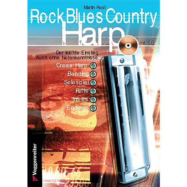 Rock Blues Country Harp, m. CD-Audio