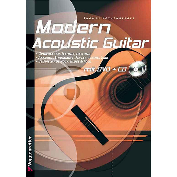 Modern Acoustic Guitar, m. Audio-CD u. DVD-Video