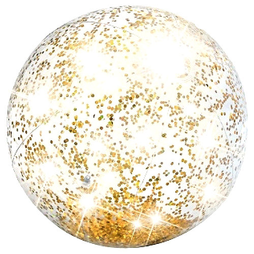 Надувной пляжный мяч с блестками Intex желтый от Intex