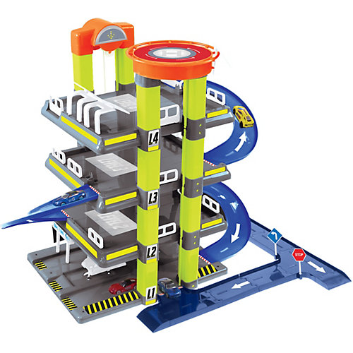 Игровой набор Mochtoys Гараж с машинкой, 4 уровня от Mochtoys