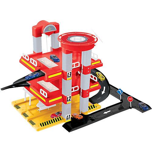 Игровой набор Mochtoys Гараж с машинкой, 3 уровня от Mochtoys