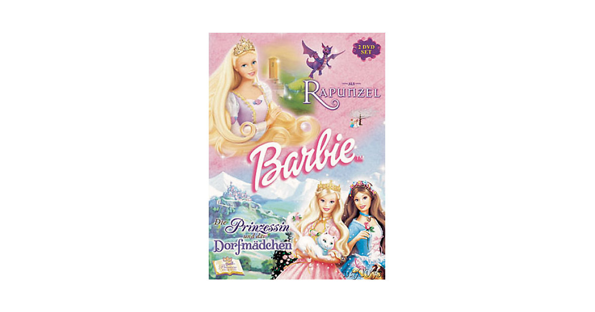 DVD Barbie-Märchen Box: Rapunzel / Die Prinzessin und das Dorfmädchen Hörbuch