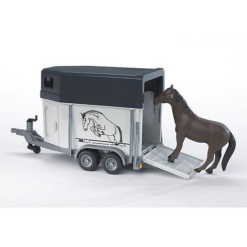 Bruder BRUDER 02028 Pferdeanhänger mit Pferd Sale Angebote Grabko