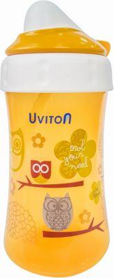 Поильник-непроливайка Uviton Baby, 360 мл, золотистый