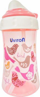 Поильник-непроливайка Uviton Baby, 360 мл, розовый — Поильник-непроливайка Uviton Baby, 360 мл,