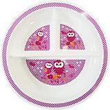 Секционная тарелочка Uviton Baby, 19 см, розовая