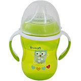Поильник-непроливайка Uviton Baby Soft, 250 мл, зелёный