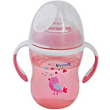 Поильник-непроливайка Uviton Baby Soft, 250 мл, розовый