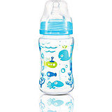 Бутылочка BabyOno антиколиковая, 240 мл, голубая
