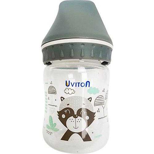 Бутылочка Uviton Baby с широким горлышком, 125 мл, серый от Uviton Baby