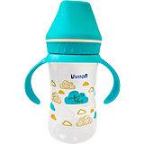 Бутылочка Uviton Baby с широким горлышком, 250 мл, голубой