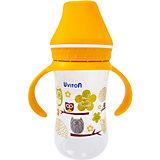 Бутылочка Uviton Baby с широким горлышком, 250 мл, золотистый