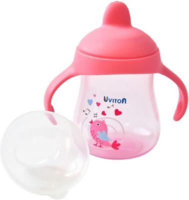 Поильник-непроливайка Uviton Baby, 250 мл, розовый — Поильник-непроливайка Uviton Baby, 250 мл,