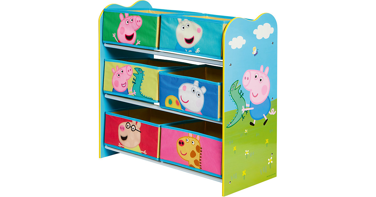 Image of Ablageregal Peppa Pig mit 6 Boxen