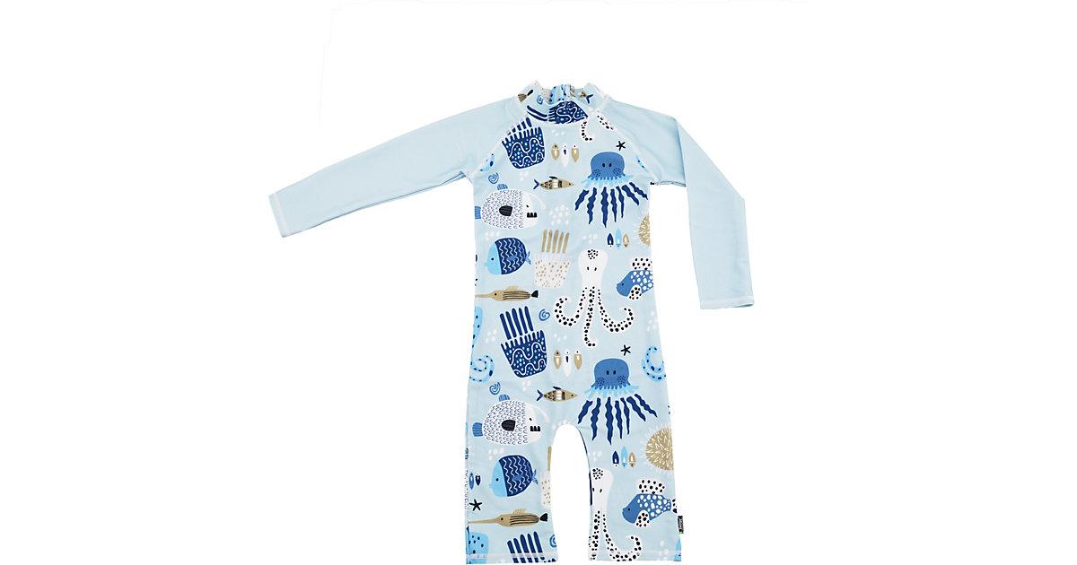 Kinder Schwimmanzug mit UV-Schutz blau Gr. 86/92