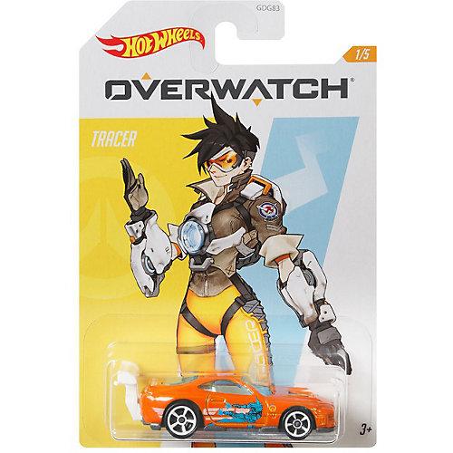 """Машинка Hot Wheels """"Герои кино"""" Overwatch Tracer, 1:64 от Mattel"""