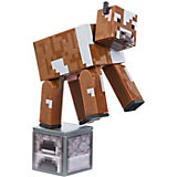 Маленькая фигурка Minecraft Cow, с артикуляцией