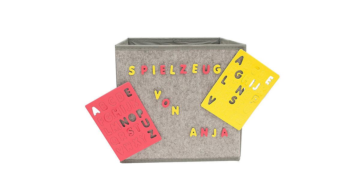 Image of Aufbewahrungsbox mit Buchstaben Paloma grau