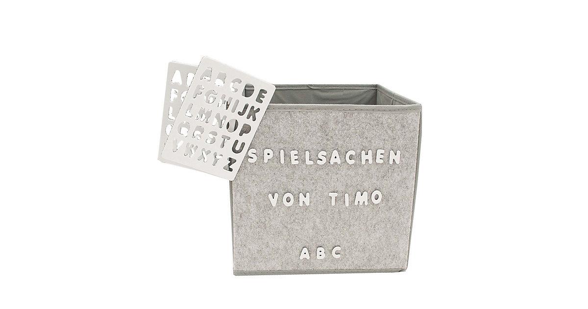 Image of Aufbewahrungsbox Paloma mit Buchstaben grau