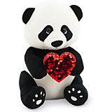 Мягкая игрушка Orange Life Панда Бу: Пламенное сердце, 20см