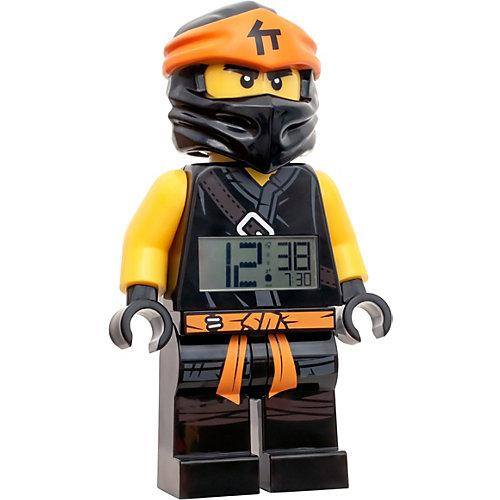 "Будильник LEGO Ninjago ""Минифигура Коул"", свет/звук от LEGO"