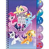 Ноутбук My Little Pony с цветными разделителями 60л