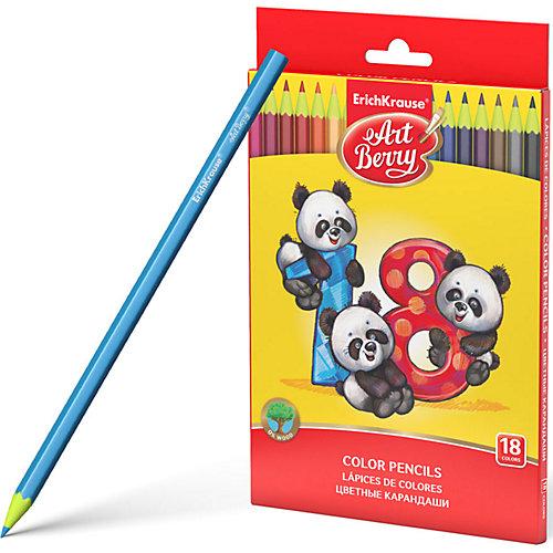 Пластиковые цветные карандаши шестигранные Erich Krause Art Berry, 18 цветов от Erich Krause