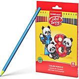 Пластиковые цветные карандаши шестигранные Erich Krause Art Berry, 18 цветов